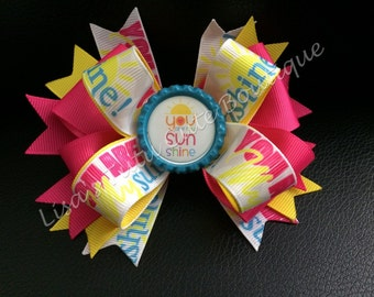 You are my sunshine boutique bow.