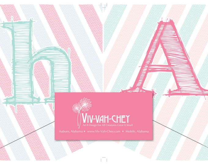 Precious Pastel Bicycle | Birthday Banner Download