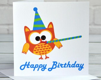 Owl Birthday Card CA033