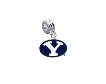 BYU Brigham Young Cougars European Charm for Bracelet