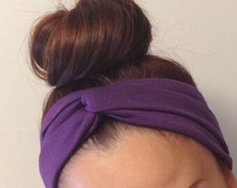 Purple Turban Style Headband