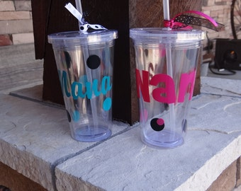Custom Cup with Straw