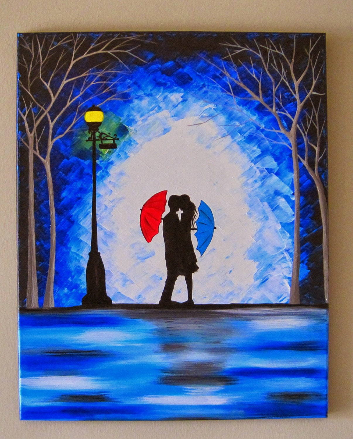 Dancing Umbrella Painting Umbrella Painting Couple