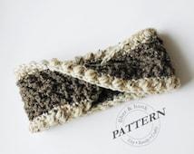 CROCHET PATTERN - Madison Mobius Headband Pattern, Crochet Ear Warmer Pattern, Infinity Twist (Toddler, Child, Adult Sizes) pdf #038B