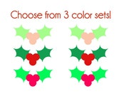 Holly Nail Decals - Vinyl, Custom choice of color