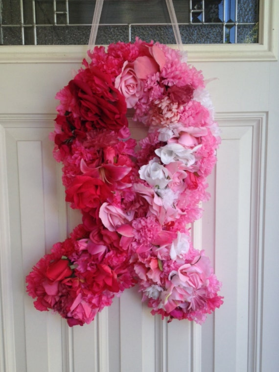 Breast Cancer Awareness Ribbon Wreath Pink Ribbon Wreath