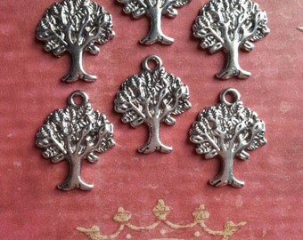 10, 20, or 50 Silver Tree of Life Pendants Charms