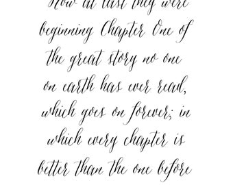 C.S. Lewis Quote in White // Digital Download Print