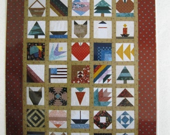 """Petite Patchwork Pre-Printed Foundation Papers, Mini Quilt Block Sampler Pattern Pack, Miniature Piecing 3"""" Block, Quilting/ Sewing Supplies"""