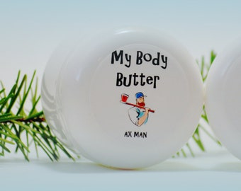 Natural Homemade Body Butter. Natural Body Butter. Homemade Body Butter. Ax Man Body Butter 2 oz. Paraben Free Body Butter