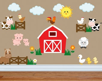 Farm Wall Art kids room wall decals farm wall decals farm animal decals