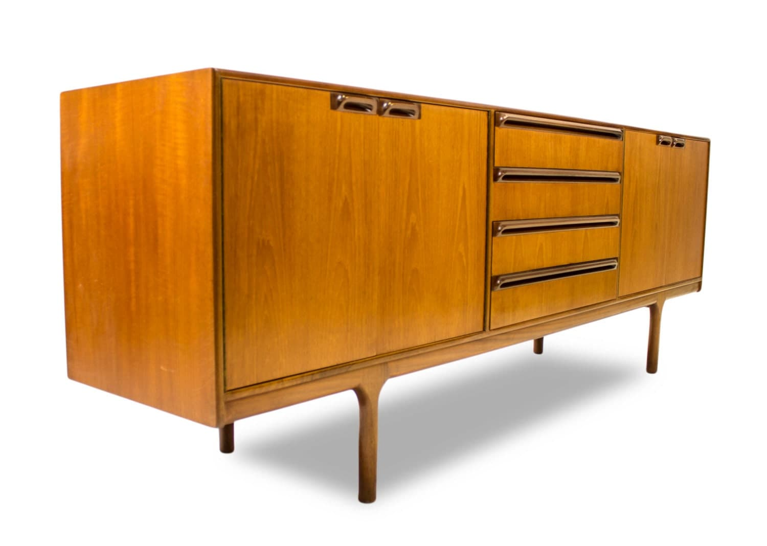 teak mid century credenza media console by by modcenturyvintage. Black Bedroom Furniture Sets. Home Design Ideas
