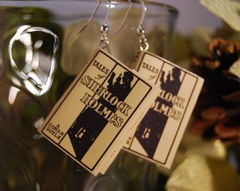 Sherlock Holmes Book Earrings