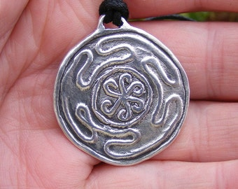 Hekate's Wheel Sterling Silver (925) Pendant Handmade by the Green Man