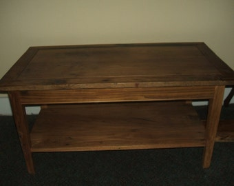 Reclaimed Wormy American Chestnut Coffee Table
