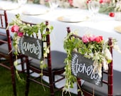 Mr & Mrs Sign/Wedding Sign / Chair Signs / Avere and Tenere / Calligraphy Sign / Wedding Signs / Chalkboard Signs / Wedding Chalkboard