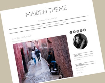 Wordpress Blog Template -  Wordpress blog theme - Responsive Wordpress Theme - Maiden