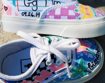 Baby Girl customized sneakers! MADE FOR SNOOKIS baby Giovanna! Toddler/Infant Size