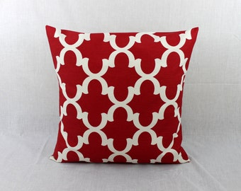 Red lumbar pillow Etsy