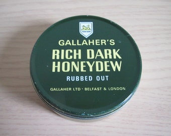 Vintage Rich Dark Honeydew Rubbed Out Tobacco tin