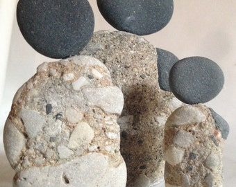 Be true to your unique self!! Beautiful Stone Figurines, a family of reclaimed stones