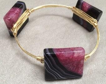 Wire Wrapped Agate bracelet