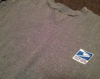 Vintage Mens United States Postal Service USPS Logo Crewneck Sweatshirt Size L