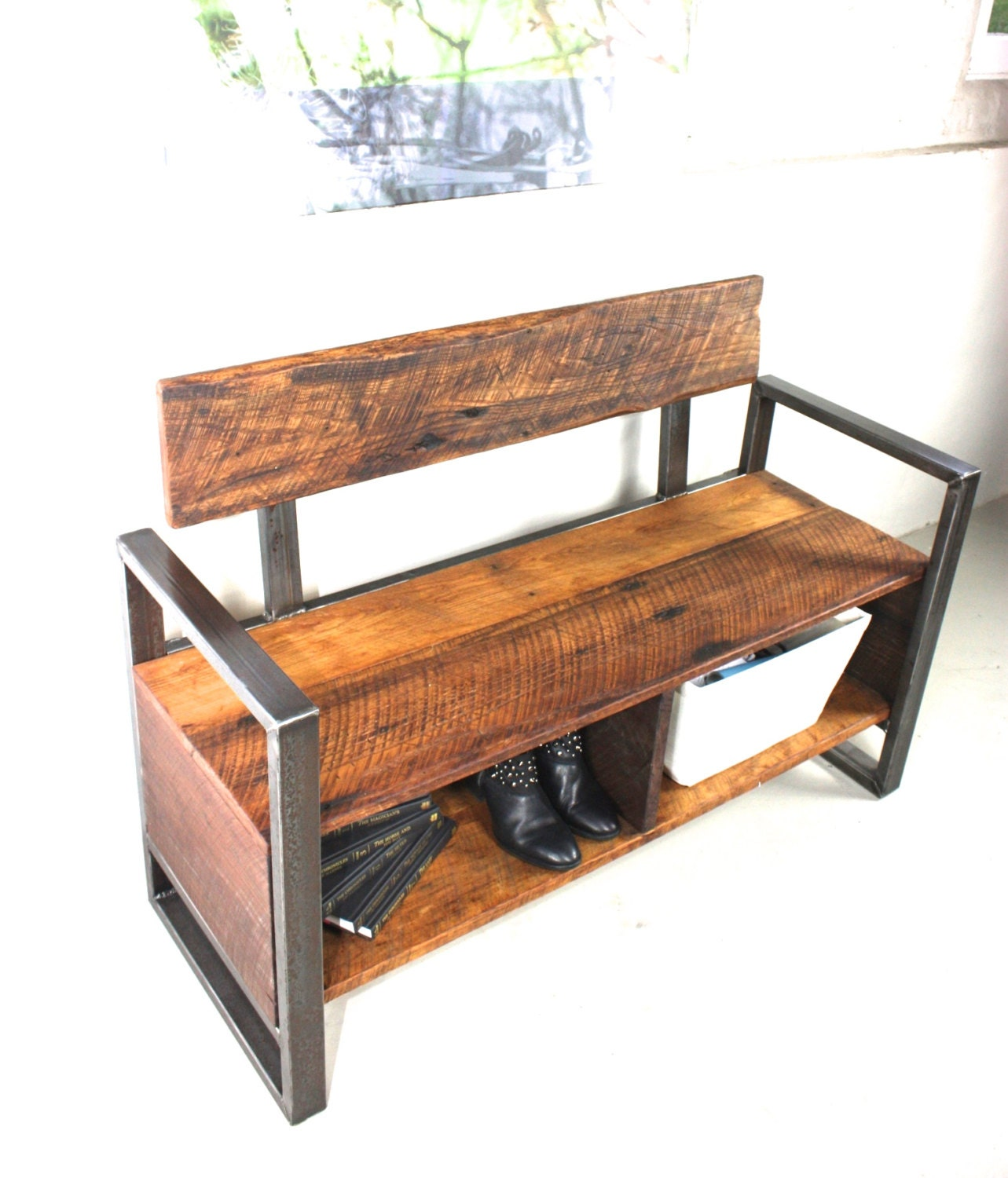 Reclaimed Wood Storage Bench By Wwmake On Etsy