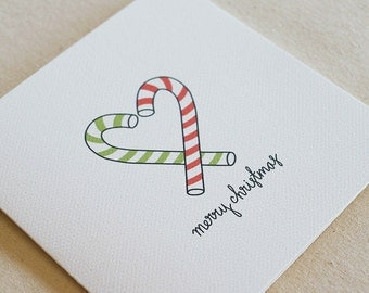 Candy Cane / Christmas Card