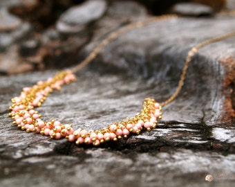 Coral Necklace/ Earrings 14k