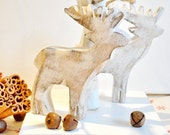 Nordic Scandinavian style Wooden hanging or standing Reindeer Christmas Decoration