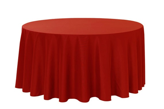 120 inch round polyester tablecloth dark red wedding for 120 inch round table cloths