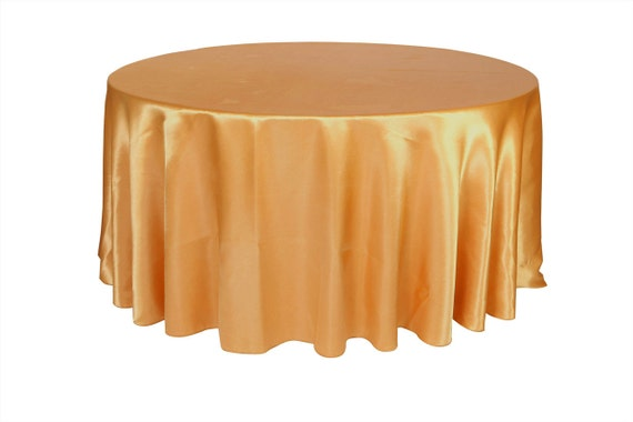 120 inch gold satin round tablecloth wedding tablecloths for 120 round table cloths