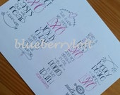 Love Series handlettered Scripture bookmarks, journaling bible add ins.