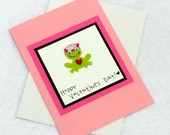 Hoppy Valentine's Day Frog Prince or Princess Card with envelope