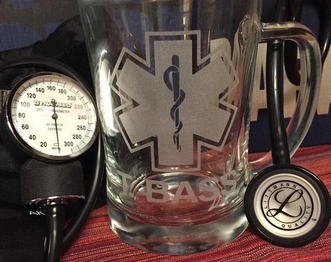 Personalized EMT/ Paramedic etched mug.