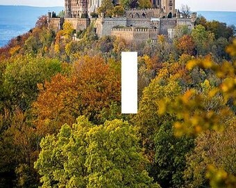Hohenzollen castle Gremany Light Switch Plate travel wall art living room bedroom home decor gift made in the USA