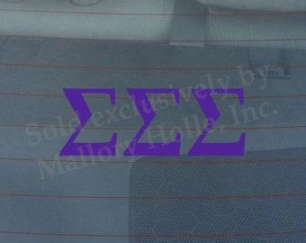 "Officially Licensed Sigma Sigma Sigma 8"" x 3"" Bumper Sticker / Window Decal"