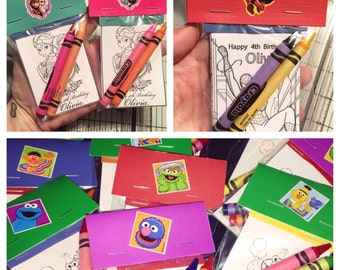 10 Personalized Coloring Books - Printed, Packaged With Crayons, & Sent To Your Door - Any Theme In The Shop - Any Name