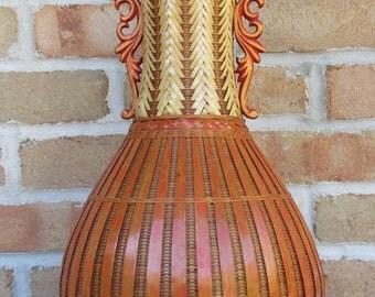 Vintage wicker vase people's republic of China