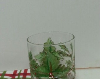 Hand-Painted Glass Candle Holder
