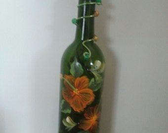 Hand-painted Wine Bottle Lamp
