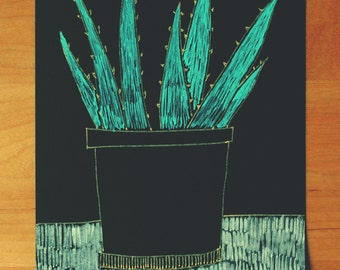 Cactus. Original drawing. Illustration.