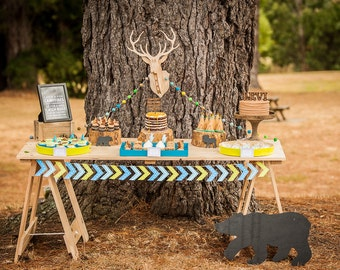Mix & Match Printable Collection for a Camping / Camp / Teepee Birthday Party