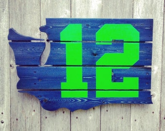 Recycled Pallet Seattle Seahawks 12th Man