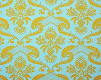 Jennifer Paganelli - Circa - LILY in Yellow Blue BTY