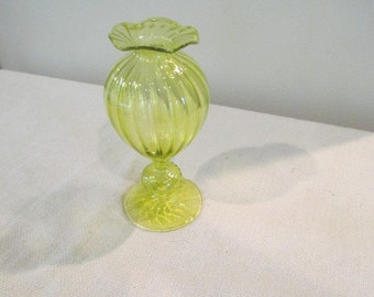 Vintage Yellow Vase
