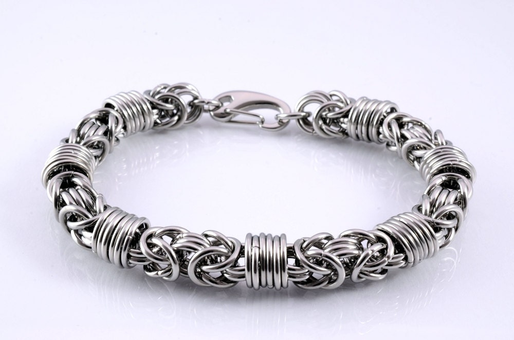 Orbit Byzantine XL mens chunky wrapped stainless chainmail