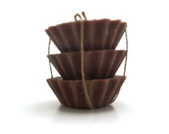 Scented Soy Tart Melts - 3 Hazelnut Coffee, Wedding, Housewarming, Birthday, Shower Favor, Gift Under 10