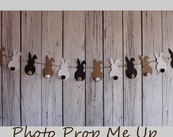 Pastel Bunnies Banner Photography Prop